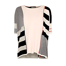 Buy Weekend by MaxMara Salve Colour Block Jumper, Light Pink Online at johnlewis.com
