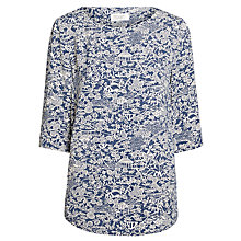 Buy Toast Printed Top, Indigo/Ivory Online at johnlewis.com