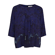 Buy Toast Natsuko Top, Indigo Online at johnlewis.com