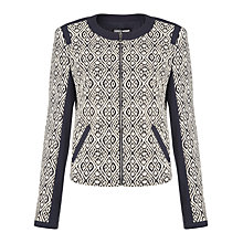 Buy Gerry Weber Jersey Aztec Blazer, Indigo Online at johnlewis.com