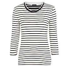 Buy Gerry Weber Stripe and Gem Top, Multi Online at johnlewis.com
