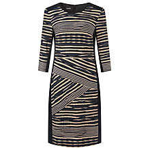 Buy Gerry Weber Pleated Ruffle Dress, Indigo Online at johnlewis.com