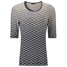 Buy Gerry Weber Waffle Half Sleeve T-Shirt, Multi Online at johnlewis.com