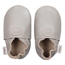 Buy Bobux Baby Soft Leather Booties, Silver Online at johnlewis.com