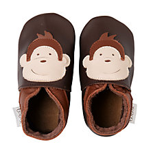 Buy Bobux Baby Monkey Booties, Brown Online at johnlewis.com