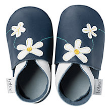 Buy Bobux Baby Daisy Booties, Navy Online at johnlewis.com