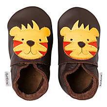 Buy Bobux Baby Soft Leather Tiger Booties, Brown Online at johnlewis.com