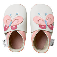 Buy Bobux Baby Butterfly Booties, White Online at johnlewis.com