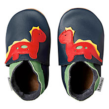 Buy Bobux Baby Dinosaur Booties, Navy Online at johnlewis.com