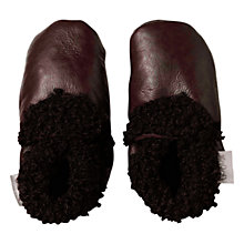 Buy Bobux Baby Leather & Sheepskin Booties, Brown Online at johnlewis.com