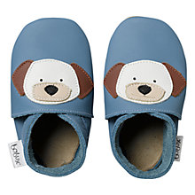 Buy Bobux Baby Puppy Leather Booties, Blues Online at johnlewis.com