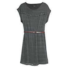 Buy Mango Trim Ethnic Dress, Black Online at johnlewis.com