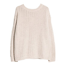 Buy Mango Wool Blend Jumper, Dark Brown Online at johnlewis.com