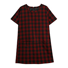 Buy Mango Check Shift Dress, Bright Red Online at johnlewis.com