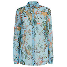 Buy Warehouse Woodland Print Blouse, Blue Pattern Online at johnlewis.com
