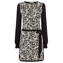 Buy Oasis Mono Print Dress, Black Online at johnlewis.com