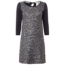 Buy White Stuff Sequin Tunic Dress, Dark Gora Online at johnlewis.com