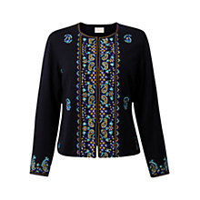 Buy East Alissa Embroidered Jacket, Ink Online at johnlewis.com