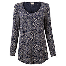 Buy East Fern Paisley Tunic Top, Ink Online at johnlewis.com