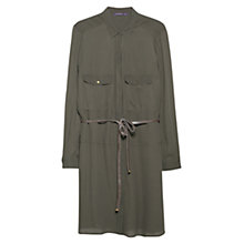 Buy Violeta by Mango Belt Shirt Dress, Khaki Online at johnlewis.com