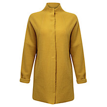 Buy East Funnel Neck Boiled Wool Coat, Ochre Online at johnlewis.com