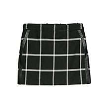Buy Mango Check Miniskirt, Black Online at johnlewis.com