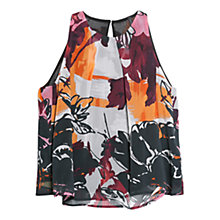Buy Mango Printed Chiffon Top, Dark Red Online at johnlewis.com