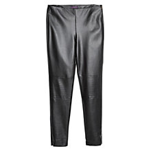 Buy Violeta by Mango Faux Leather Trousers, Black Online at johnlewis.com
