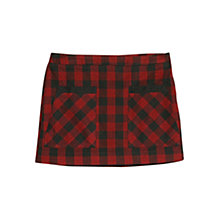 Buy Mango Red Check Mini Skirt, Bright Red Online at johnlewis.com