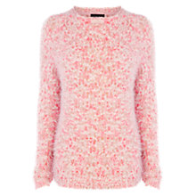 Buy Warehouse Hairy Pom Pom Jumper, Dark Pink Online at johnlewis.com