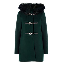 Buy Warehouse Duffle Coat, Dark Green Online at johnlewis.com