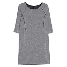 Buy Mango Flecked Dress, Black/White Online at johnlewis.com