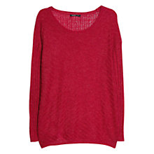 Buy Mango Textured Mohair Blend Sweater, Bright Red Online at johnlewis.com