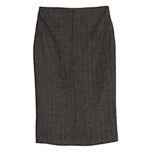 Buy Mango Pencil Skirt, Dark Brown Online at johnlewis.com
