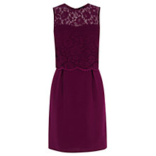 Buy Oasis Lace Bodice 2 in 1 Dress, Purple Online at johnlewis.com