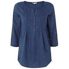Buy White Stuff Makesh Top, Irish Blue Online at johnlewis.com