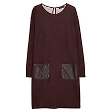 Buy Violeta by Mango Wool-Blend Pocket Dress, Dark Red Online at johnlewis.com