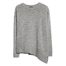Buy Mango Asymmetric Hem Jumper, Light Pastel Grey Online at johnlewis.com