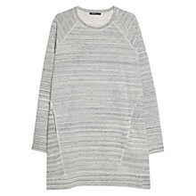 Buy Mango Flecked Striped Dress, Medium Grey Online at johnlewis.com