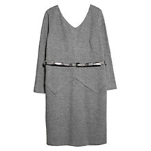 Buy Violeta by Mango Herringbone Jacquard Dress, Medium Grey Online at johnlewis.com