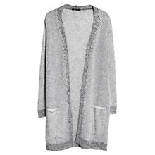 Buy Mango Mohair Wool Blend Cardigan, Light Pastel Grey Online at johnlewis.com