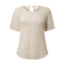 Buy East Lace Top, Pearl Online at johnlewis.com