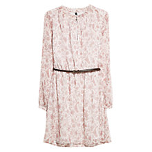 Buy Mango Floral Chiffon Dress, Natural White Online at johnlewis.com