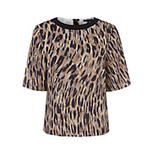 Buy Warehouse Smudgy Animal Print Top, Multi Online at johnlewis.com