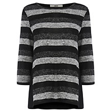 Buy Oasis Lurex Stripe Insert Sweatshirt, Multi/Black Online at johnlewis.com