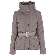Buy Oasis Kara Long Puffa Jacket, Mid Neutral Online at johnlewis.com