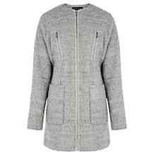 Buy Warehouse Bouclé Teddy Coat, Light Grey Online at johnlewis.com