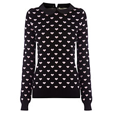 Buy Oasis Heart Collar Jumper Online at johnlewis.com