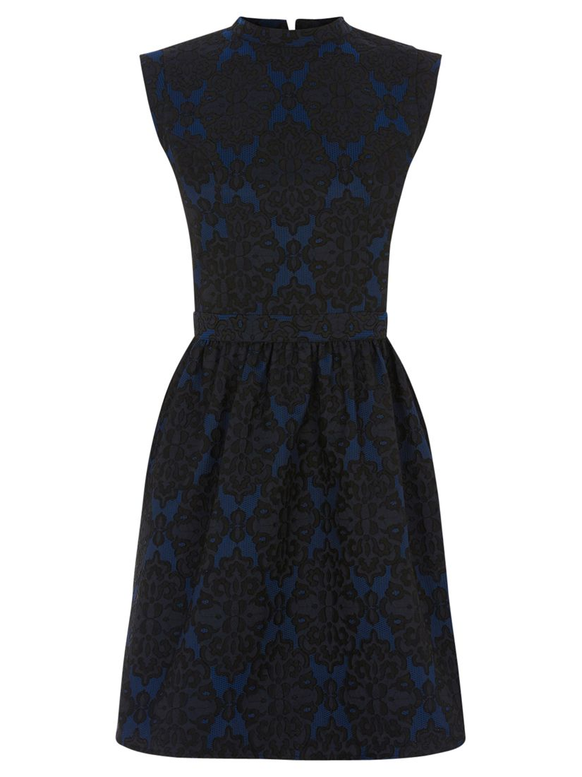 oasis jacquard lace skater dress mid blue, oasis, jacquard, lace, skater, dress, mid, blue, clearance, womenswear offers, womens dresses offers, special offers, women, womens dresses, party outfits, party dresses, investment pieces, 1742235