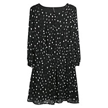 Buy Mango Heart Print Dress, Natural White Online at johnlewis.com